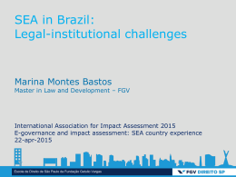 SEA in Brazil: Legal-institutional challenges