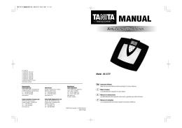 MANUAL - Tanita