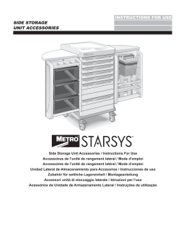 Metro Instructions for Starsys Side Storage Unit