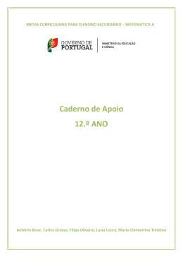 Caderno de Apoio 12.º ANO - Direção