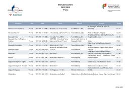 Manuais Escolares 2012/2013 7º ano