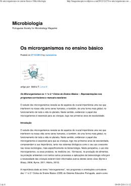 Microrganismos no Ensino Básico