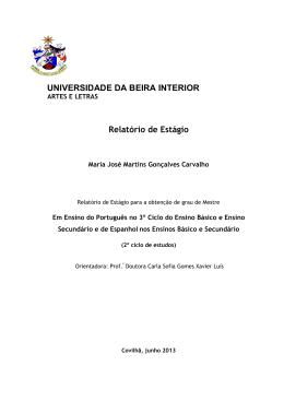 1ª versão - uBibliorum - Universidade da Beira Interior