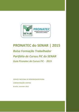 Portfolio GUIA FIC Pronatec 2015 - Vs final 17092015