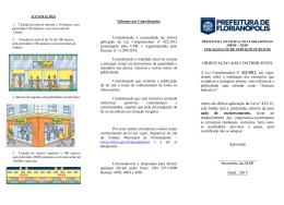 Fôlder de orientação - Prefeitura Municipal de Florianópolis