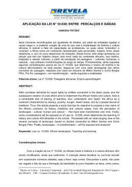aplicação da lei n° 10.639: entre percalços e saídas