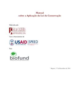 Manual sobre a Aplicação da Lei da Conservação