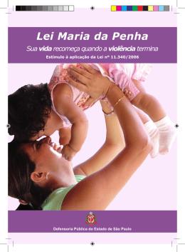 Lei Maria da Penha - Defensoria - Governo do Estado de São Paulo