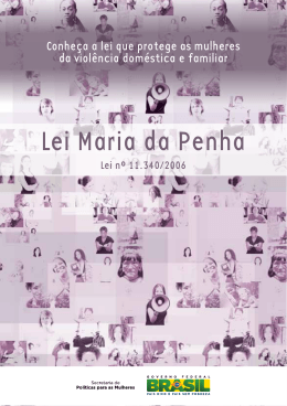 Lei Maria da Penha - Secretaria de Estado da Mulher