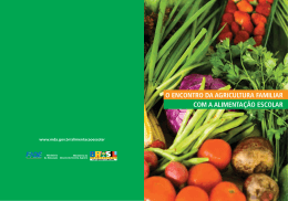 o encontro da agricultura familiar com a alimentação escolar
