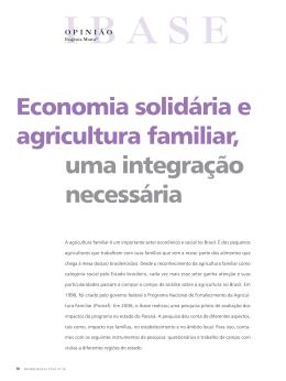 Economia solidária e agricultura familiar, uma integração