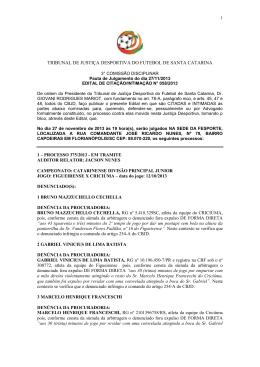 Edital de citação 058-13 para 27-11-13