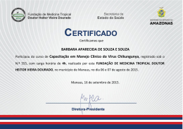 BARBARA APARECIDA DE SOUZA E SOUZA Participou - FMT-AM