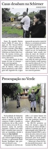 Casas desabam na Schirmer Preocupação no Verde