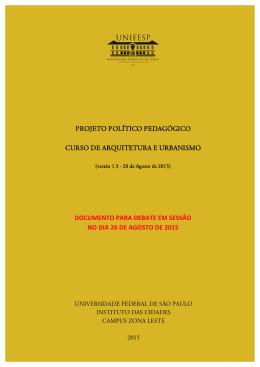 Projeto Político Pedagógico do Curso de Arquitetura e Urbanismo