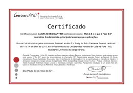 Certificamos que, ALAIR ALVES MARTINS participou do curso: Web