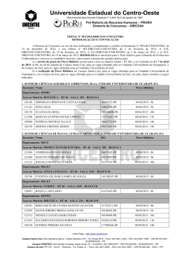 EDITAL Nº 015/2015 - Universidade Estadual do Centro