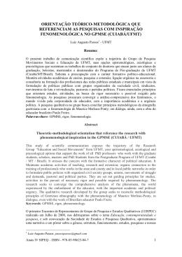 orientação teórico-metodológica que referenciam as pesquisas com