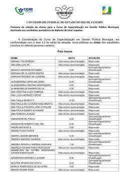 GPM - Divulgação de Notas - 2013