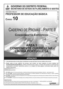 provas - CESPE / UnB