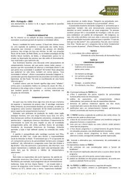 2003 - Português - AFA - Projeto Futuro Militar