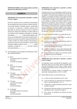 Vestibular PUCRS 2014/1 | Prova de Química