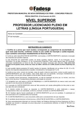 PROFESSOR LICENCIADO PLENO EM LETRAS