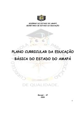 PLANO CURRICULAR DA EDUCAÇÃO BÁSICA DO