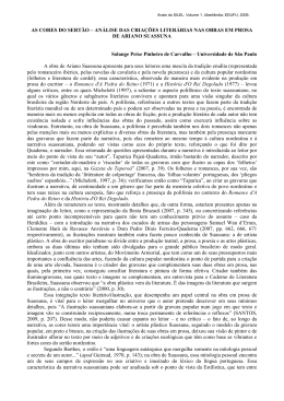 As cores do Sertão - Instituto de Letras e Lingüística