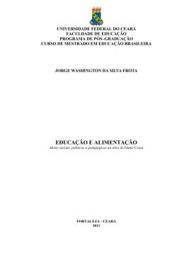 EDUCAÇÃO E ALIMENTAÇÃO - Universidade Federal do Ceará
