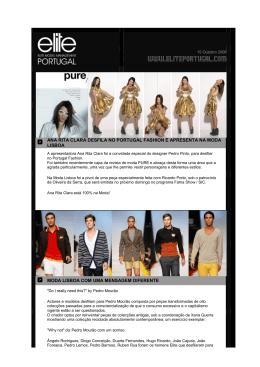 ana rita clara desfila no portugal fashion e apresenta na