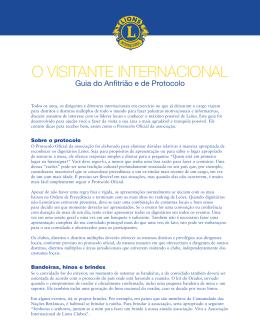 O visitante internacional - Guia do anfitrião e de protocolo (pr768)