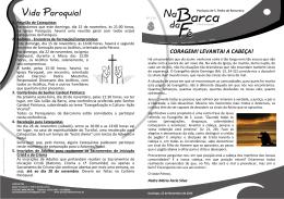 Nº126 - 15-11-2015 - Paróquia de São Pedro de Barcarena
