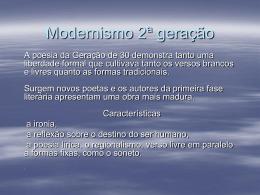 Modernismo 2ª Fase