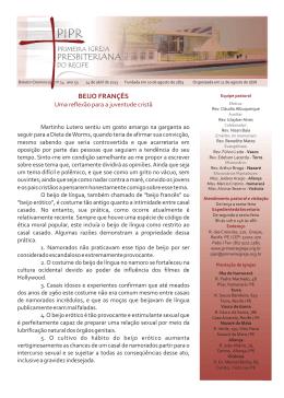 Boletim 140413 - Primeira Igreja Presbiteriana do Recife