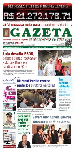 Lula desafia PSDB, - imprensaja.com.br