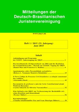 Mitteilungen der Deutsch-Brasilianischen Juristenvereinigung