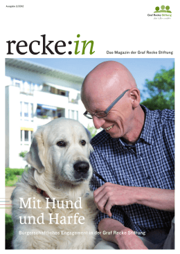 recke:in 2/2012 - Graf Recke Stiftung