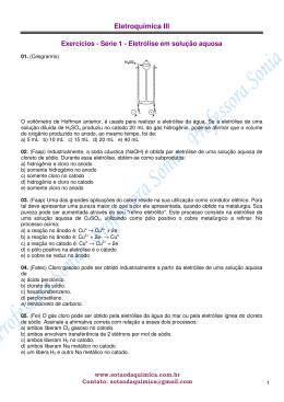 Eletroquímica III - Química para o Vestibular