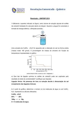 Resolução – UNIFESP 2015 1-Utilizando o aparato indicado na