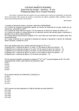 COLÉGIO MARISTA ROSÁRIO Exercícios de