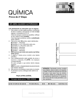 Química - UFMG 2005