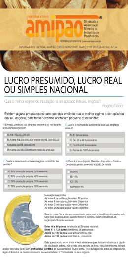 LUCRO PRESUMIDO, LUCRO REAL OU SIMPLES NACIONAL