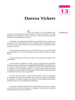 13. Dureza Vickers