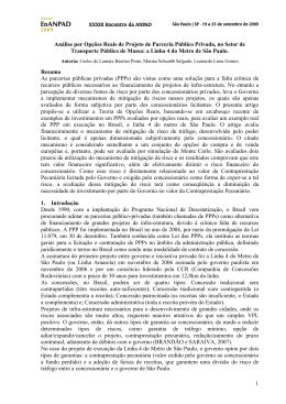 1 Análise por Opções Reais de Projeto de Parceria Público