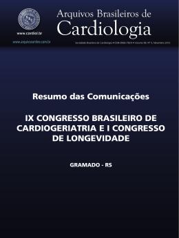 Resumo das Comunicações IX CONGRESSO BRASILEIRO DE