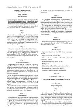 Lei n.º 157/2015