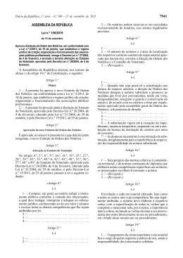 Lei n.º 155/2015 - Ordem dos Notários
