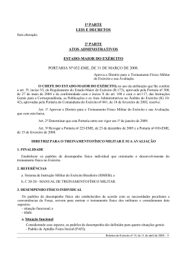 estado-maior do exército portaria nº 032