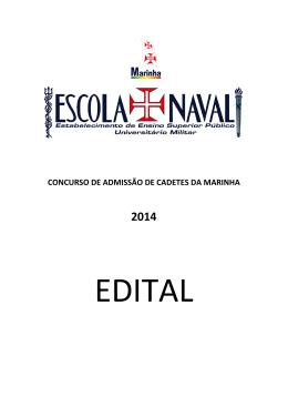 Concurso de Admissão de Cadetes da Marinha - 2014